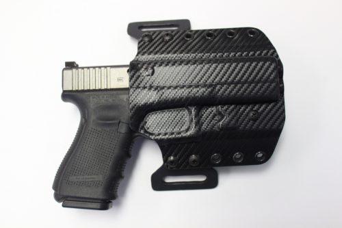 Elite Glock 19-23-32 OWB Pancake 1.5 Belt RH Black Carbon 1